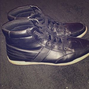 Black Leather Steve Madden shoes